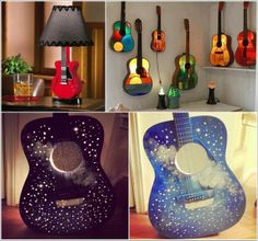 5 Ideas to Recycle Old Guitars and Let Them Rock Once More | The Real Design Inspiration