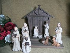 Vintage 1980's Nativity Scene Cast Resin by TKSPRINGTHINGS on Etsy, $29.95
