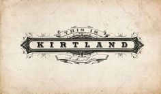Logo for historic Ohio musical, This is Kirtland. By Roger McMullan.