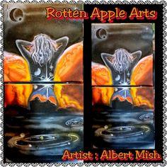 Rotten Apple Arts : Artist : Albert Mish Apple Art, Paintings, Artist, Artwork, Design, Work Of Art, Artists, Painting
