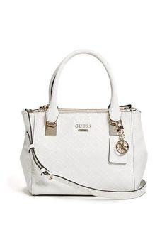 6d6b5196ff GUESS Shantal Quattro G Status Satchel White. NADAKI · Products · Handbags  ...
