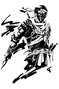 Samurai Tattoo, Samurai Art, Japanese Sword, Japanese Art, Ninja Art, Black Phone Wallpaper, Ghost Of Tsushima, Cool Anime Pictures, Demon Art