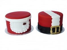 Mr & Mrs Santa cakes by Mina Magiska Bakverk (My Magical Pastries), via Flickr