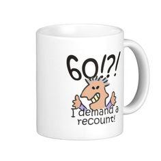 Recount 60th Birthday Coffee Mugs