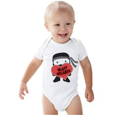 Heart breaker Ninja Valentines lids shirt or Baby bodysuit by shirtsbynany on Etsy