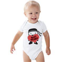 Heart breaker Ninja Valentines lids shirt or Baby bodysuit by shirtsbynany on Etsy