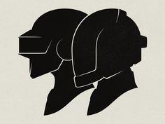 Daft Punk Silhouette Portraits