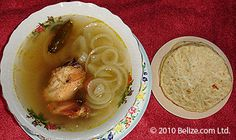 #Belize  Escabeche Chicken soup with loads of onions and hot tortillas