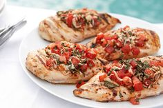 Try this  Grilled Bruschetta Chicken for a dose of cheesy tomato goodness! Watch this video to learn how to prepare Grilled Bruschetta Chicken today.
