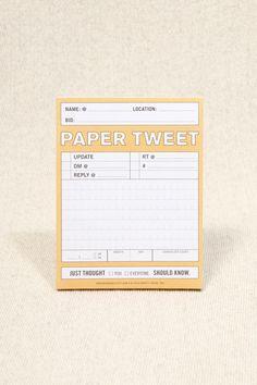 "Urban Outfitters - ""Paper Tweet"" Notizblock"