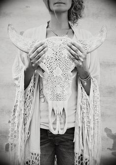 This carved animal skull is unbelievably beautiful. What an amazing way to honor a life.