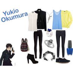 Yukio Okumura by casualanime on Polyvore featuring J.Crew, By Malene Birger, Vanessa Bruno, Burberry, J Brand, Free People, BEVEL, Topshop, AEA and Tressa
