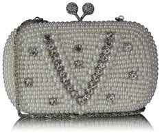 f0bcf111459c4 Biała torebka wizytowa w stylu Vintage biały | Sklep internetowy Evangarda.pl  Kość Słoniowa,
