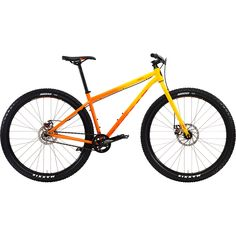 Kona+Unit+Gloss+Yellow-Orange+Fade+with+Orange+Decals Kona Unit, Orange, Yellow, Deep Purple, Mtb, Decals, Bicycle, The Unit, Steel