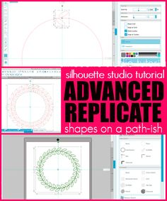 Silhouette Studio Advanced Replicate Tutorial for Putting Shapes on a Path - Silhouette School