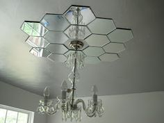 Faux Daddy Designs: Mirrored Ceiling Medallion Wonder if Ron would get on board with this? (: