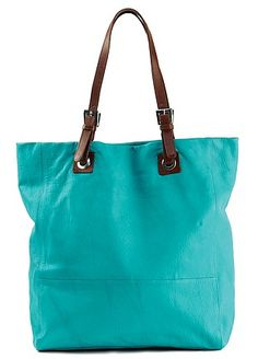 Leather Tote Bag - Shimmermoss