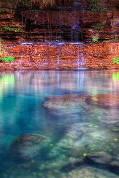 Circular Pool, Karijini National Park in northwestern Western Australia Landscape Photography, Travel Photography, Nature Photography, Photography Tips, Western Australia, Australia Travel, Queensland Australia, Places To Travel, Places To See