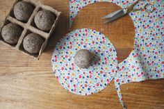 Seed bombs. Spread a little happiness in the abandoned lots in your neighbourhood this Earth Day.