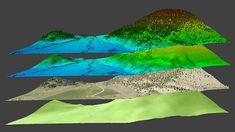 Digital Surface Models, Aerial LiDAR Scanning, survey, Mapping.