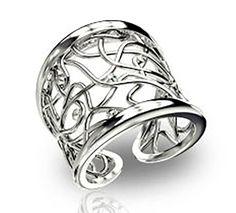 Εντυπωσιακό δαχτυλίδι με πέτρες Swarovski από ασήμι