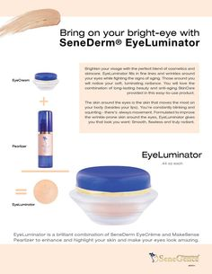 EyeLuminator SeneGence Stay All Day Makeup & Anti-Aging Products Makesense Foundation, Senegence Foundation, Senegence Makeup, Senegence Products, Shadow Sense, Long Lasting Lip Color, Black Skin Care, Best Face Products, Facial Products