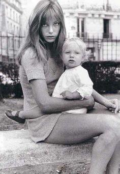 Jane Birkin and daughter
