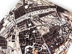 Handmade Velvet Copenhagen Map Print Cushion from maxandrosie.co.uk