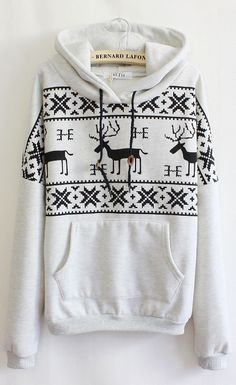 Cute sweater, love it :) cheesy/cute