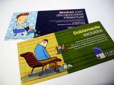 Realización de una serie de flyers para el programa 'Doblemente excluidos' de FEAPS La Rioja - Calle Mayor Comunicación y Publicidad
