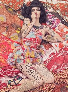 Vogue patterns and Klimt