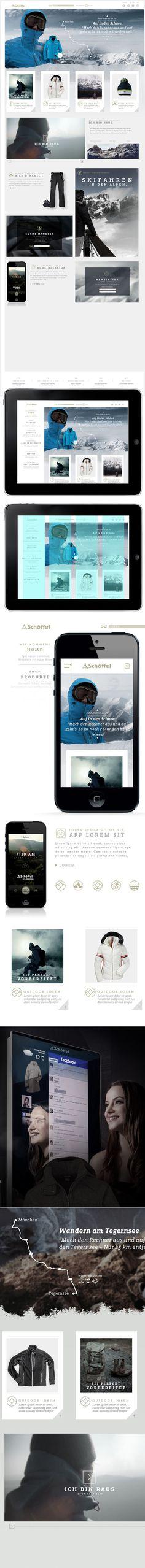 Schöffel Website & App on Behance