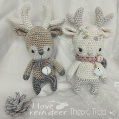 Reindeer THEO & THILDA  #crochet #amigurumi www.haekelliebe-by-bine.com