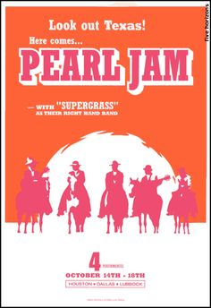 Pearl Jam - Texas Poster