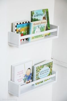 DIY Ikea spice rack bookshelves
