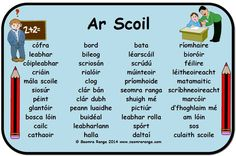 Ar Scoil Primary Teaching, Teaching Resources, Primary School, Gaelic Words, 6 Class, Literacy And Numeracy, Irish Language, Language Activities, English Vocabulary