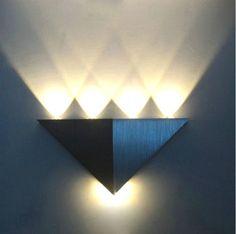 LED-Deko Wand-Lampe Farbe Warmweiss Art Deko-Stiel !!!!! *Schönes Ambiente*. Modern wohnen Umwelt schonen !