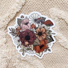 Vintage Flower Tattoo, Vintage Flowers, Autumn Tattoo, Bottle Drawing, Cute Laptop Stickers, Pink Wallpaper Iphone, Ipad Art, Cute Little Things, Easy Paintings