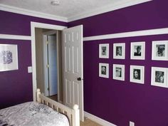 Dark purple wall color- perfect for Kate's room