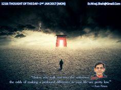 1218: THOUGHT OF THE DAY –2nd JAN 2017 (MON)  #ArihantSatiate  #NirajShah (er.niraj.shah@gmail.com)
