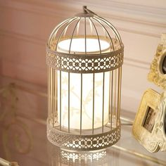 Decoration Stylish Birdcage Table Lamp White Pattern Lampshade Decorative Accent Metal Material Creamy White Finish Inline Switch Home Decor Ideas Lighting Fixtures 27 Mesmerizing Birdcage Lamp