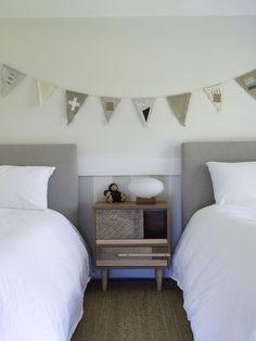 tone on tone shared bedroom