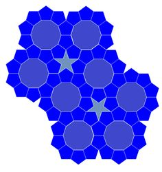 A while ago, Roger Penrose famously filed a lawsuit against Kimberly Clark when his wife discovered that a roll of quilted lavatory paper was adorned with his aperiodic tiling. Although the tiling … Penrose Tiling, Roger Penrose, Johannes Kepler, In Law Suite, Geometry, Quilt Patterns, Typography, Dune, Paper