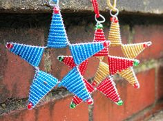 Ornaments from Africa Three Pack of Stars by BeadsForGood on Etsy, $14.00