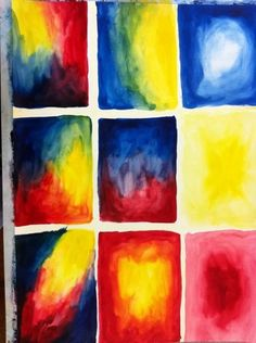 Waldorf ~ 2nd grade ~ Primary & Secondary Colors ~ watercolor painting