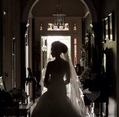 Silhouette in the entrance hallway.