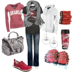 Outfit -- Arkansas Razorbacks outfits-schools-sports