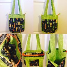 #happyhourcraftswap #teamtequilaandtonics @made_with_lurve got this one done today. Stupid broken AC is making it hard to get projects done and I'm very angry that I can't sew everything I need to get done. In any case, I was able to do this today... Only took all day. #supertote #smallerversion #85% not 100 #love this #pattern #everyonegetsabag #tote #bag #purse #zipper #zipperbag #beer #wine #bright #bold #colorful #alcohol #funfun #booze #fabric #drinkfabric #alcoholfabric #beerfabric…