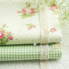 Bz047 rosarium розовый зеленый в Горошек розовая вода зеленый sun grid 100%  хлопковая ткань ручной работы neadend купить на AliExpress d1368702ac4