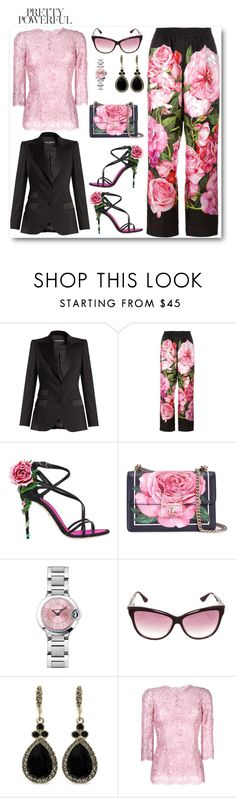 """""""Pretty Powerful"""" by barones-tania ❤ liked on Polyvore featuring Dolce&Gabbana, Cartier, Chrome Hearts and Givenchy"""